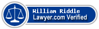 William F. Riddle  Lawyer Badge