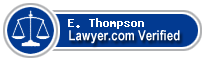 E. James Thompson  Lawyer Badge