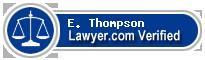 E. James Thompson  Lawyer Badge