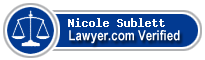 Nicole L. Sublett  Lawyer Badge