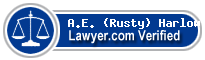 A.E. (Rusty) Harlow  Lawyer Badge