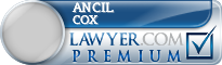 Ancil L. Cox  Lawyer Badge