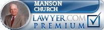 Manson E. Church  Lawyer Badge