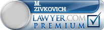 M. Trent Zivkovich  Lawyer Badge