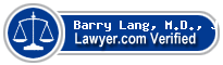 Barry D. Lang, M.D., J.D.  Lawyer Badge