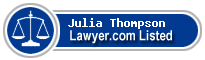 Julia Thompson Lawyer Badge