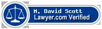M. David Scott  Lawyer Badge
