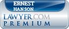 Ernest O. Hanson  Lawyer Badge