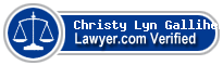 Christy Lyn M. Galliher-Gagliano  Lawyer Badge