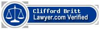 Clifford Britt  Lawyer Badge