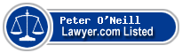 Peter O'Neill Lawyer Badge