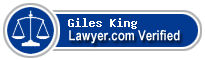 Giles W. King  Lawyer Badge