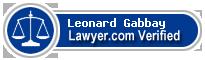 Leonard B. Gabbay  Lawyer Badge