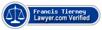 Francis John Tierney  Lawyer Badge