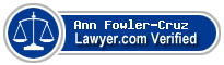 Ann L. Fowler-Cruz  Lawyer Badge