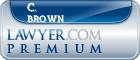 C. Thomas Brown  Lawyer Badge
