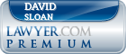 David B Sloan  Lawyer Badge