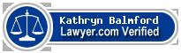 Kathryn E. Balmford  Lawyer Badge