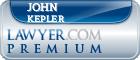 John W. Kepler  Lawyer Badge
