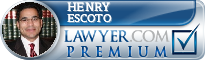 Henry A. Escoto  Lawyer Badge