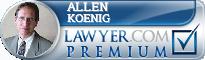 Allen Koenig  Lawyer Badge