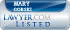 Mary Gorski Lawyer Badge
