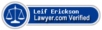 Leif D. Erickson  Lawyer Badge