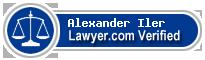 Alexander Borden Iler  Lawyer Badge