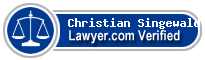 Christian J. Singewald  Lawyer Badge