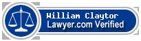 William M. Claytor  Lawyer Badge