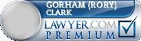 Gorham (Rory) S. Clark  Lawyer Badge