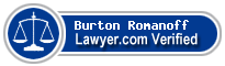 Burton M. Romanoff  Lawyer Badge