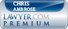 Chris Ambrose  Lawyer Badge