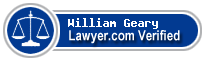 William C. Geary  Lawyer Badge