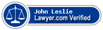 John K Leslie  Lawyer Badge