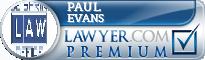 Paul E. Evans  Lawyer Badge