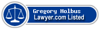 Gregory Holbus Lawyer Badge