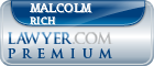 Malcolm C. Rich  Lawyer Badge