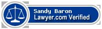 Sandy David Baron  Lawyer Badge