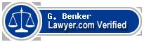 G. Scott Benker  Lawyer Badge