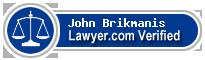 John A Brikmanis  Lawyer Badge