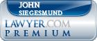John C. Siegesmund  Lawyer Badge