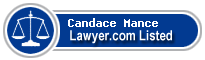 Candace Mance Lawyer Badge