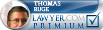 Thomas R. Ruge  Lawyer Badge