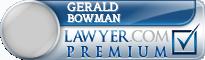 Gerald J. Bowman  Lawyer Badge