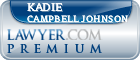 Kadie Campbell Johnson  Lawyer Badge