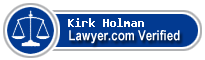 Kirk D. Holman  Lawyer Badge