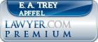 E. A. Trey  Apffel  Lawyer Badge