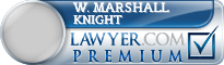 W. Marshall Knight  Lawyer Badge