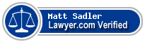 Matt Sadler  Lawyer Badge